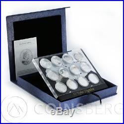 Cook Islands, 5 dollars, 12 coins Set, 12 Wonders of Ukraine silver proof 2009