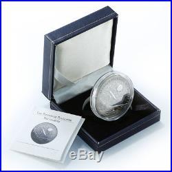 Cook Islands 5 dollars Brenham Pallasite Meteorite silver coin 2007