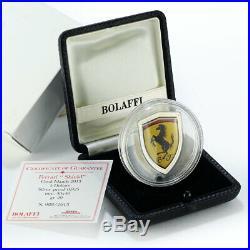 Cook Islands 5 dollars Ferrari Shield car colored silver coin 2013
