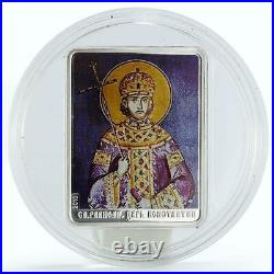 Cook Islands 5 dollars Patron Saints St. Constantine colored silver coin 2010