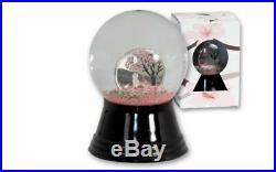 Cook Islands Cherry Blossom Globe 1/10 Oz Silver Coin $1 2017, Limited Edition