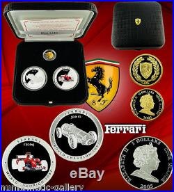Cook Islands Ferrari Limited Edition 2005 3-coin Silver & Gold Proof Set