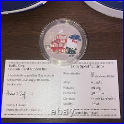 Cook Islands Hello Kitty 2009 35th Limited to 3000 Silver 3 Coins NGC 68 Rare
