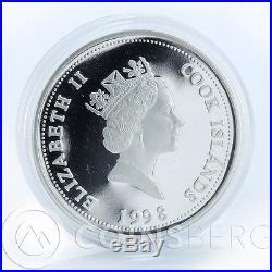Cook Islands, Set of 5 Silver coins, 5x$1, Australia Fauna Series, 1 Oz, 1998