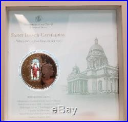 Cook Islands Windows of Heaven 2012 Saint Issac's Cathedral $10 Silver Coin