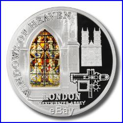 Cook Islands Windows of Heaven Westminster Abbey $10 2011 Silver Coin Mint Case