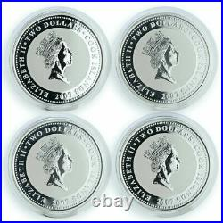Cook Islands set of 4 coins The Adventures of Sherlock Holmes silver coins 2007