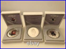 Cook Islands, silver coins, 3x1Oz, 2010, Soyuzmultfilm, Return of the prodigal parrot