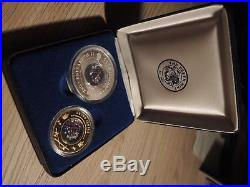 Cook islands (2002) 100$ Gold & 1$ Silver Locket coin set Crown jewels