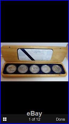 Cook islands 5pc x 2oz 1999 ships that made Australia silver coin set rare