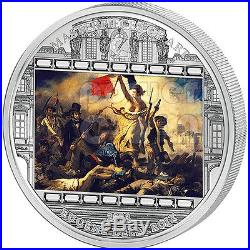 DELACROIX Eugene Liberty Leading People 3 Oz Silver Coin 20$ Cook Islands 2013