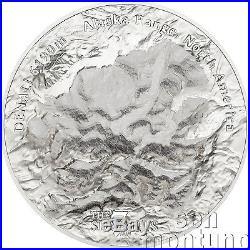 DENALI The Seven Summits 5 oz High Relief Silver Coin 2016 COOK ISLANDS $25