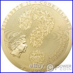 DENDERA Gilded Archeology Symbolism 3 Oz Silver Coin 20$ Cook Islands 2020