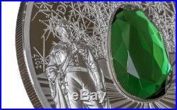 DRESDEN GREEN DIAMOND Famous Diamonds 2 Oz Silver Coin 10$ Cook Islands 2017