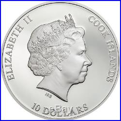 DRESDEN GREEN DIAMOND Famous Diamonds 2oz SILVER PROOF COIN COOK ISLANDS