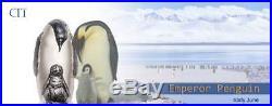EMPEROR PENGUIN 2018 Cook Islands 88g 3D silver coin