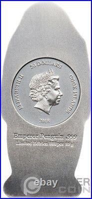 EMPEROR PENGUIN Shaped Silver Coin 20$ Cook Islands 2018