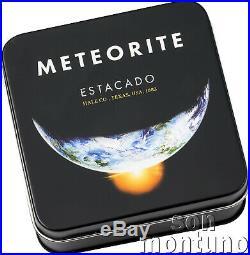 ESTACADO METEORITE 1/2 oz Titanium Silver Coin 2019 COOK ISLANDS $2 Dollars
