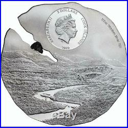 ESTACADO METEORITE Silk Finish Silver Coin Cook Islands 2019