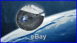 ESTACADO Meteorite Impacts Silver Coin 2$ Cook Islands 2019