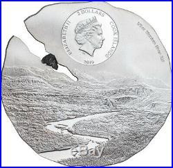 ESTACADO Meteorite Impacts Silver Coin Cook Islands 2019