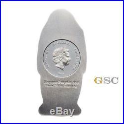 Emperor Penguin 3d body shape 20$ silver coin Cook Islands 2018