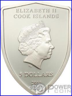 FERRARI Italian Sports Car Silver Coin 5$ Cook Islands 2013