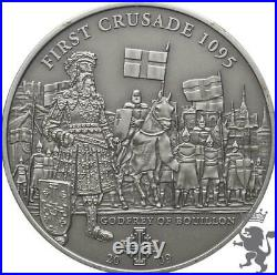 First Crusade1095 GODFREY OF BOUILLONSilver Coin 5$ Cook Islands 2009 1000 pcs