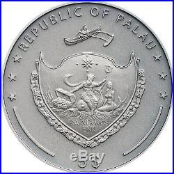 GREY WOLF 1 oz Silver Ultra high relief coin $5 Palau 2020