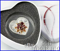HAPPY VALENTINE'S DAY Silver Proof Heart Shaped Coin 2019 Cook Islands $5