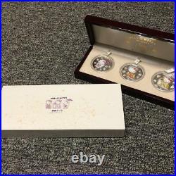 Hello Kitty Cook Islands Kabuki 3 Types Of Silver Coins Set