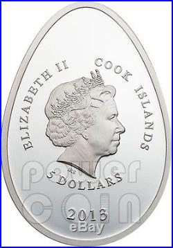 IMPERIAL EGGS GOLD Cloisonne Faberge Silver Coin 5$ Cook Islands 2013