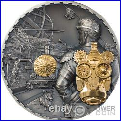 JET PACK Steampunk Gilded 3 Oz Silver Coin 20$ Cook Islands 2021