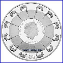 KING ARTHUR-Camelot Knights 2 oz Silver Coin Cook Islands 2016