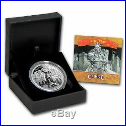 KING ARTHUR LEGENDS OF CAMELOT 2016 2 oz Ultra High Relief Proof Silver Coin