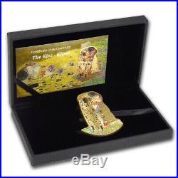 KISS 3D Gustav Klimt 2 Oz Silver High relief Coin Gold Gilded Cook Islands 2019