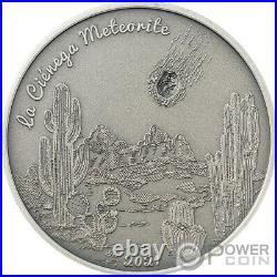 LA CIÉNEGA Meteorite Impacts 1 Oz Silver Coin 5$ Cook Islands 2021
