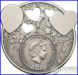 LITTLE PRINCESS Dreaming Girl 1 Oz Silver Coin 5$ Cook Islands 2019