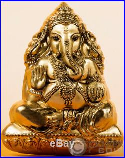LORD GANESHA Shaped 3 Oz Silver Coin 20$ Cook Islands 2019