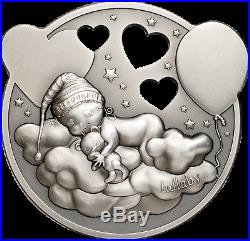 Lullaby Little Princess Cook Island 2019 silver coin with music box