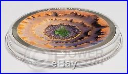 MOLDAVITE IMPACT Meteorite Silver Coin 5$ Cook Islands 2014