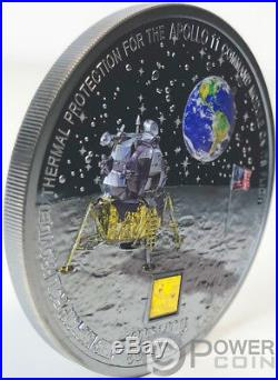 MOON LANDING Apollo 50th Anniversary 3 Oz Silver Coin 20$ Cook Islands 2019