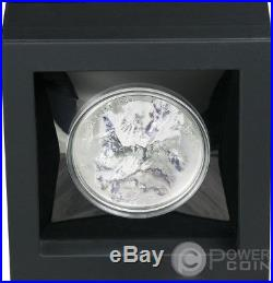 MT EVEREST Mount 7 Summits Asia Himalayas 5 Oz Silver Coin 25$ Cook Islands 2017