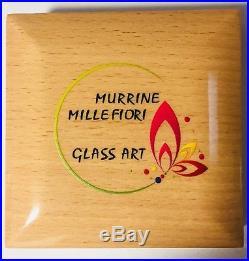 MURRINE MILLEFIORI GLASS ART 1oz Silver Proof Coin $5 Cook Islands 2015 Rare