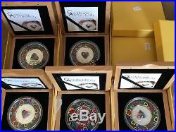 MURRINE MILLEFIORI GLASS ART Silver Proof Coin 5$ Cook Islands 2015 SOLD OUT