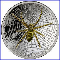 Magnificent Life 2016 (cook Islands) Wasp Spider 1oz. Silver Proof Coin