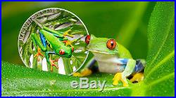 Magnificent Life Tree Frog 1 Oz Silver Coin 5$ Cook Islands 2018