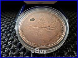 Meteorite MARS Cook Islands 2009 1Oz 5 Dollars silver Box Original coin 100%