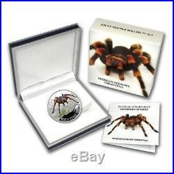 Mexican Redknee Tarantula Venomous Spiders Silver Coin Cook Island 2011