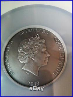 NGC MS70 Cook Islands 2019 Sea Gods of World Poseition Silver Coin 3oz COA